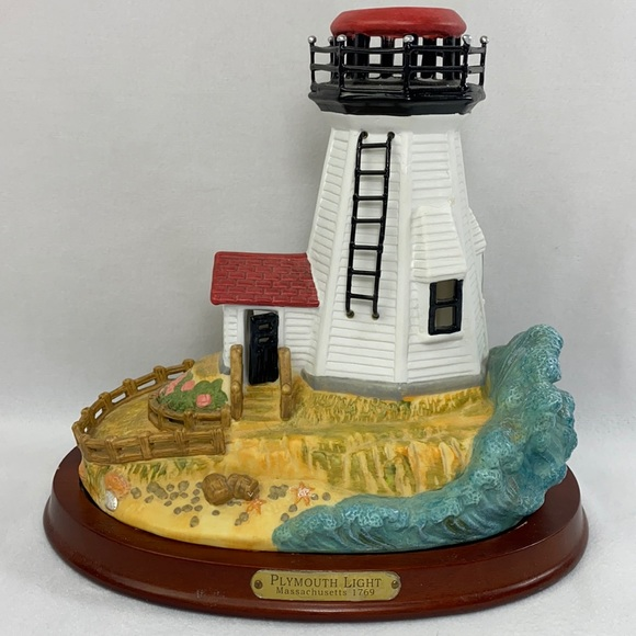 Party Lite Plymouth Light Tealight Candle Holder Lighthouse Retired